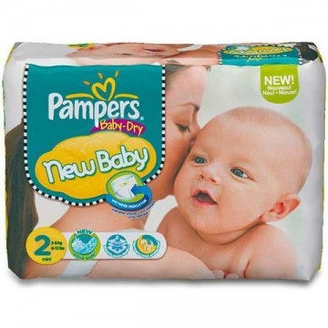 72 Couches Pampers Pampers Baby Dry Taille 2 à Bas Prix Sur Layota
