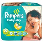 Pack 34 Couches de Pampers Baby Dry sur layota