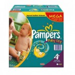 328 Couches Pampers Baby Dry taille 4+