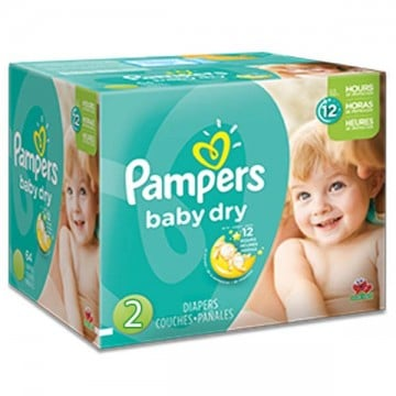 420 Couches Pampers Pampers Baby Dry Taille 2 En Solde Sur Layota
