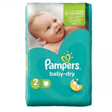 44 Couches Pampers Pampers Baby Dry Taille 2 à Bas Prix Sur Cou Ches