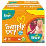 44 Couches Pampers Simply Dry taille 4+