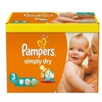 56 Couches Pampers Simply Dry taille 3