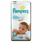 Pack 60 Couches Pampers New Baby Sensitive sur cou-ches