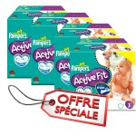 Maxi giga pack de 615 Couches Pampers Active Fit sur layota