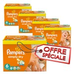 774 Couches Pampers Simply Dry taille 6