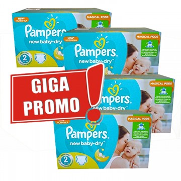 952 Couches Pampers Pampers New Baby Dry Taille 2 En Solde Sur Cou Ches