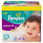 Giga Pack de 124 Couches de Pampers Active Fit sur layota