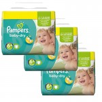 114 Couches Pampers Baby Dry taille 6+
