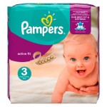 62 Couches Pampers Active Fit taille 3