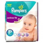 70 Couches Pampers Active Fit taille 3+