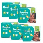 301 Couches Pampers Baby Dry taille 5+