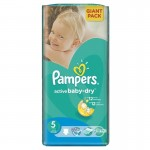 Pack de 42 Couches Pampers Active Baby Dry sur layota