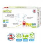 Pquet 30 Couches bio écologiques de Swilet New Baby Dry sur layota