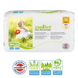 28 Couches bio écologiques Swilet New Baby Dry taille 2
