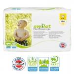 Pack de 28 Couches bio écologiques Swilet de New Baby Dry sur layota