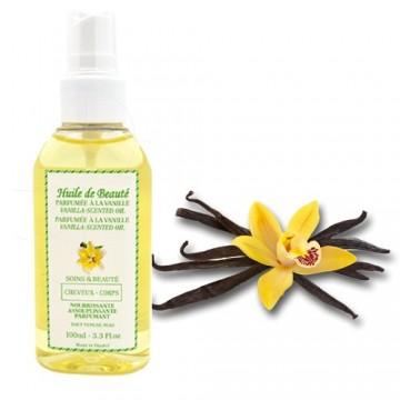 Huile de beauté à la vanille 100% pure et végétale