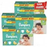 Giga Pack 792 Couches Pampers d'Active Baby Dry sur layota