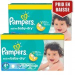 162 Couches Pampers Active Baby Dry taille 4+