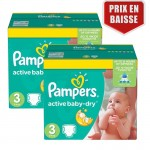 Giga Pack 410 Couches Pampers Active Baby Dry sur layota
