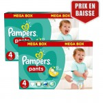 282 Couches Pampers Baby Dry Pants taille 4