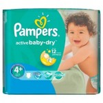 Pack de 18 Couches Pampers Active Baby Dry sur layota