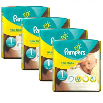 115 Couches Pampers New Baby taille 1