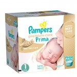 324 Couches Pampers Premium Care - Prima taille 1