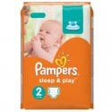 68 Couches Pampers Sleep & Play taille 2