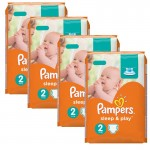 204 Couches Pampers Sleep & Play taille 2