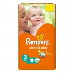 16 Couches Pampers Sleep & Play taille 3