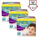 giga pack 470 Couches Pampers d'Active Fit sur layota