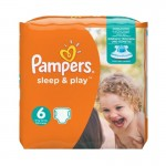 58 Couches Pampers Sleep & Play taille 6