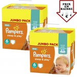 giga pack 348 Couches Pampers de Sleep & Play sur layota