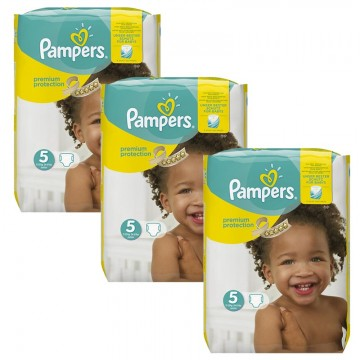 204 Couches Pampers Pampers Premium Protection Taille 5 à Bas Prix