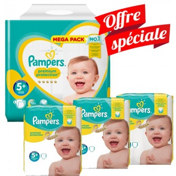 416 Couches Pampers Pampers Premium Protection Taille 5 à Petit