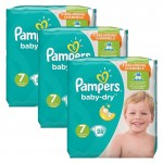 84 Couches Pampers Baby Dry taille 7