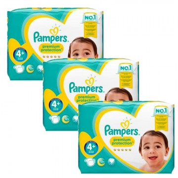 186 Couches Pampers Pampers Premium Protection Taille 4 En