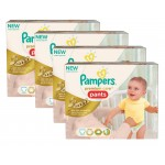 224 Couches Pampers Premium Care Pants taille 3