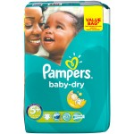 Pack 28 couches Pampers Baby Dry