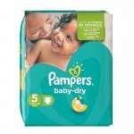 90 Couches Pampers Baby Dry taille 5
