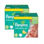 108 Couches Pampers Active Baby Dry taille 3