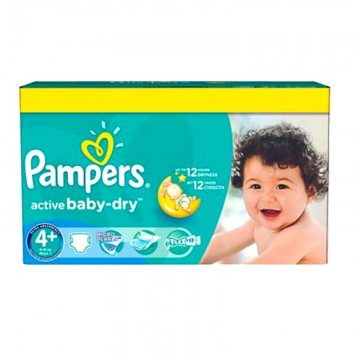 96 Couches Pampers Pampers Active Baby Dry Taille 4 A Bas Prix Sur