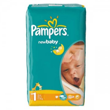 43 Couches Pampers Pampers New Baby Dry Taille 1 à Petit Prix Sur Layota