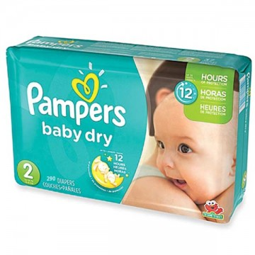 290 Couches Pampers Baby Dry taille 2